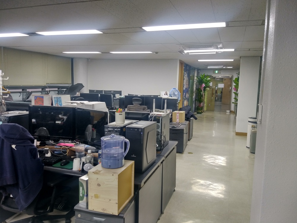 온라인개발실 사무공간