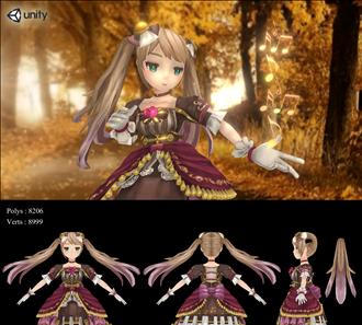 소녀 3d 캐릭터 모델링