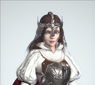 갑옷 여자캐릭터 모델링