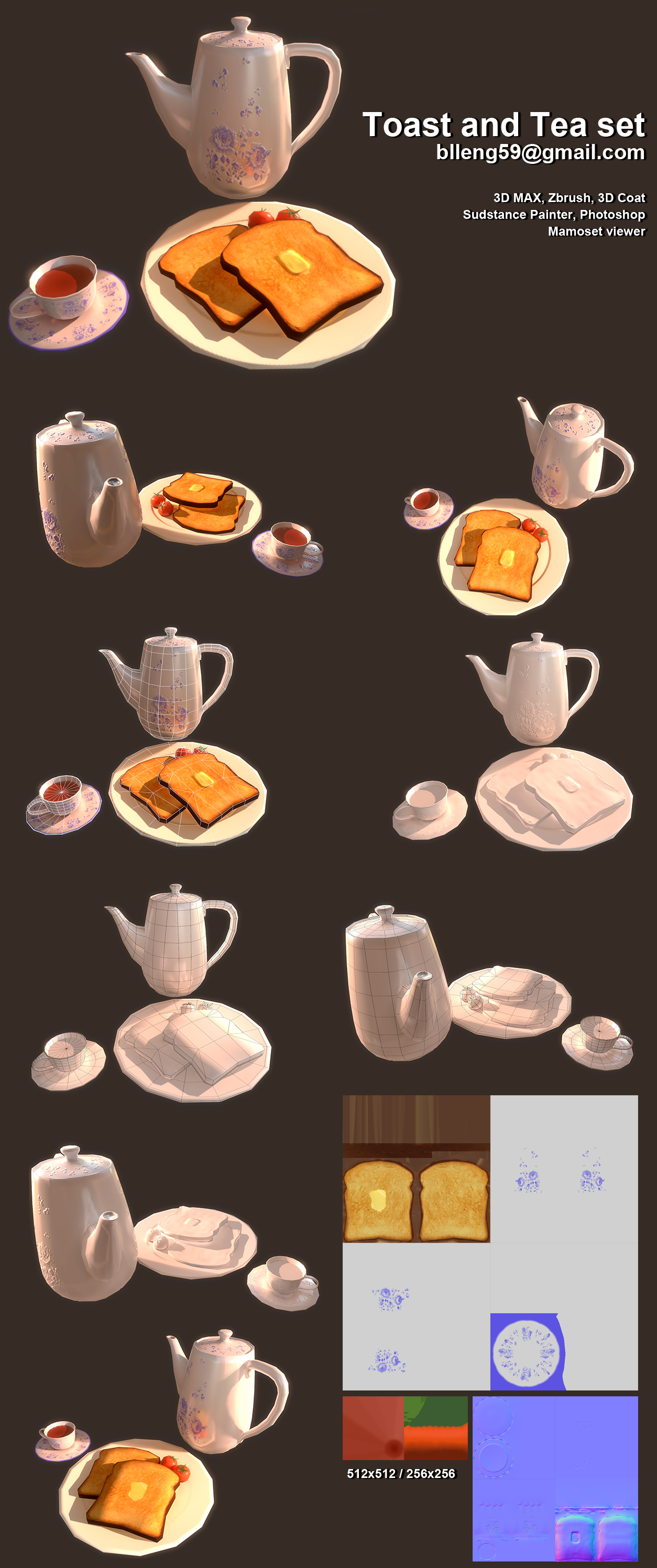 toast and tea set