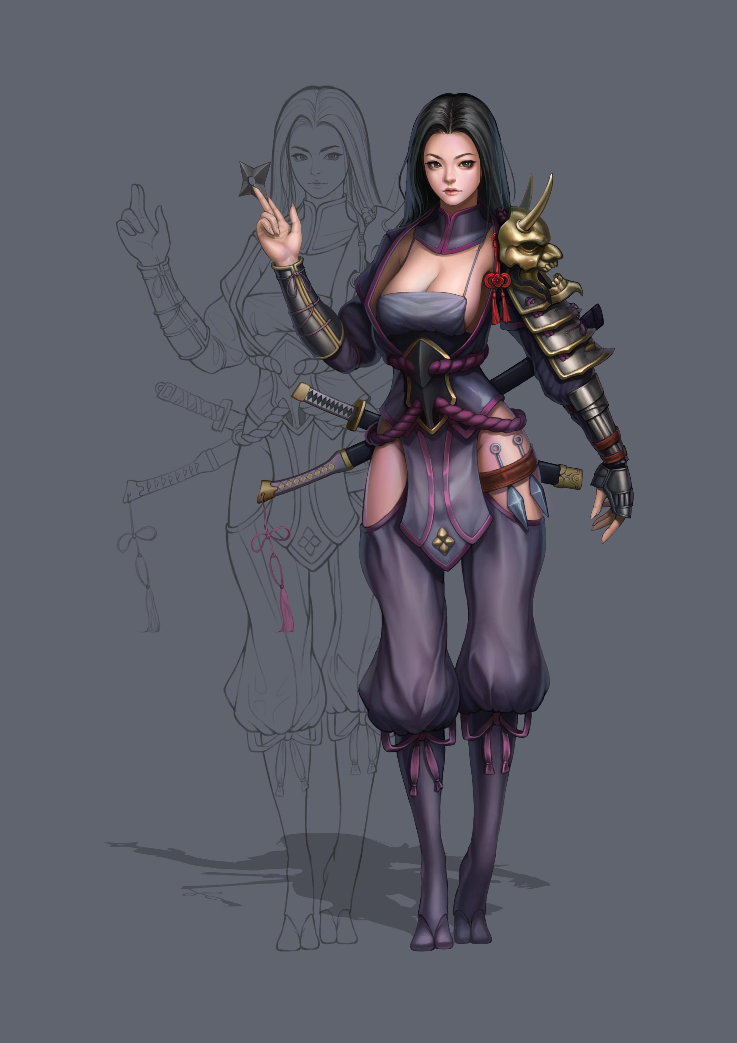 여성 닌자 창작입니다.