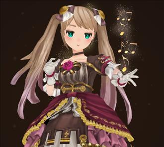 소녀 캐릭터 3d 모델링 (메인샷)