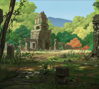 9.숲 속 유적