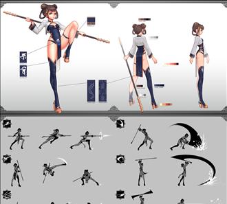 캐릭터 / 컨샙 시트 / 게임원화