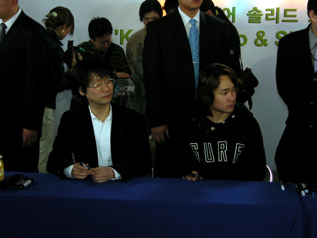 `메탈기어솔리드3`코지마히데오방한사인회