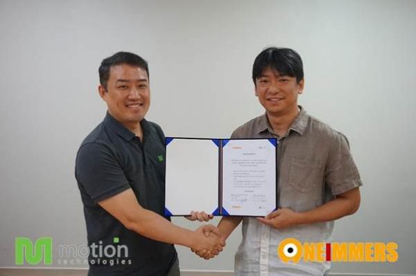 원이멀스, VR 게임 개발 기술 협력 MOU