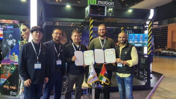 모션테크놀로지, 중동 로보컴VR과 제휴
