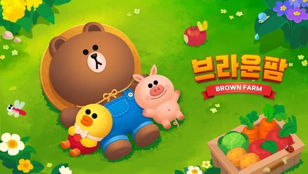 라인플레이 '브라운팜' 사전예약 100만 돌파