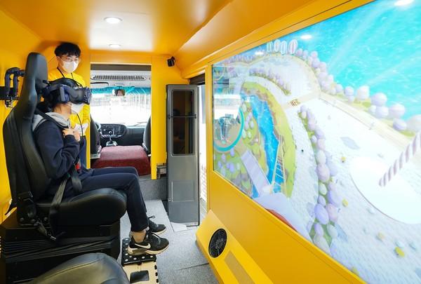 카카오게임즈, 찾아가는 VR 테마파크 버스 활동 재개