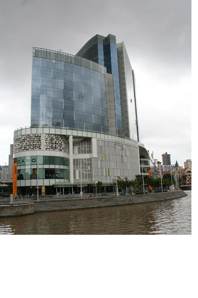 싱가폴 리버에서 본 사무실 전경