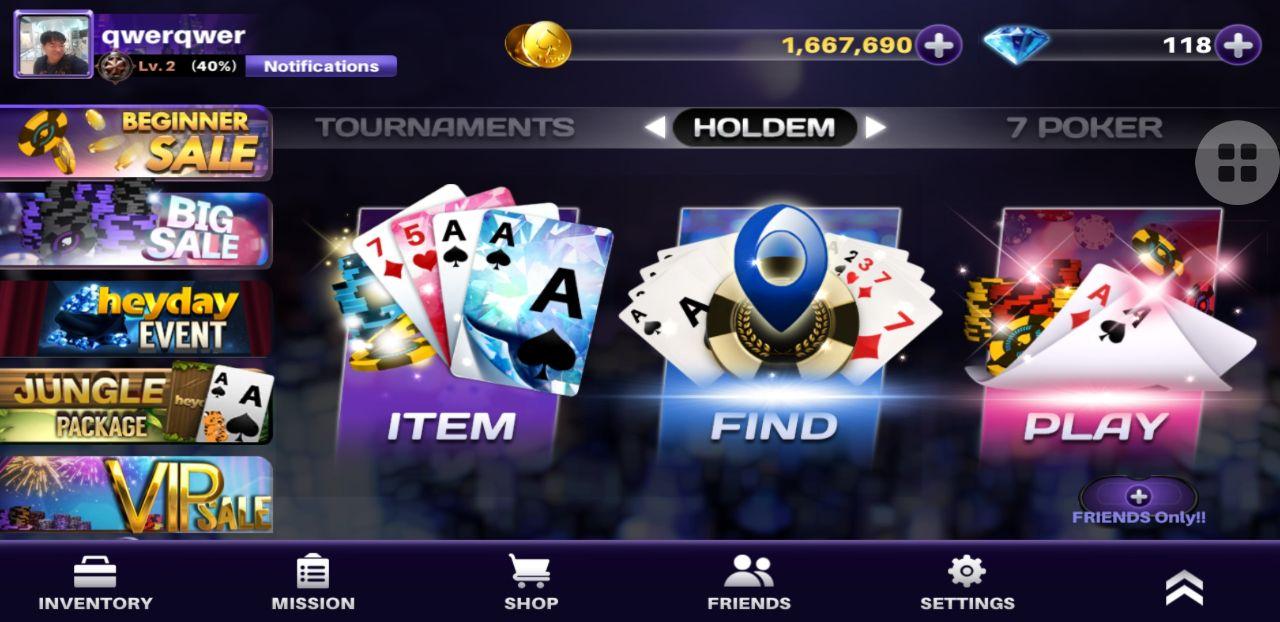 Tournament Poker HEYDAY