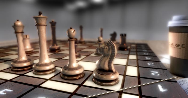 다누리XR 저작도구에서 제작된 체스 씬